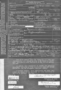 C. 1956-3-28 Death Certificate of Genevieve Sippel (B)