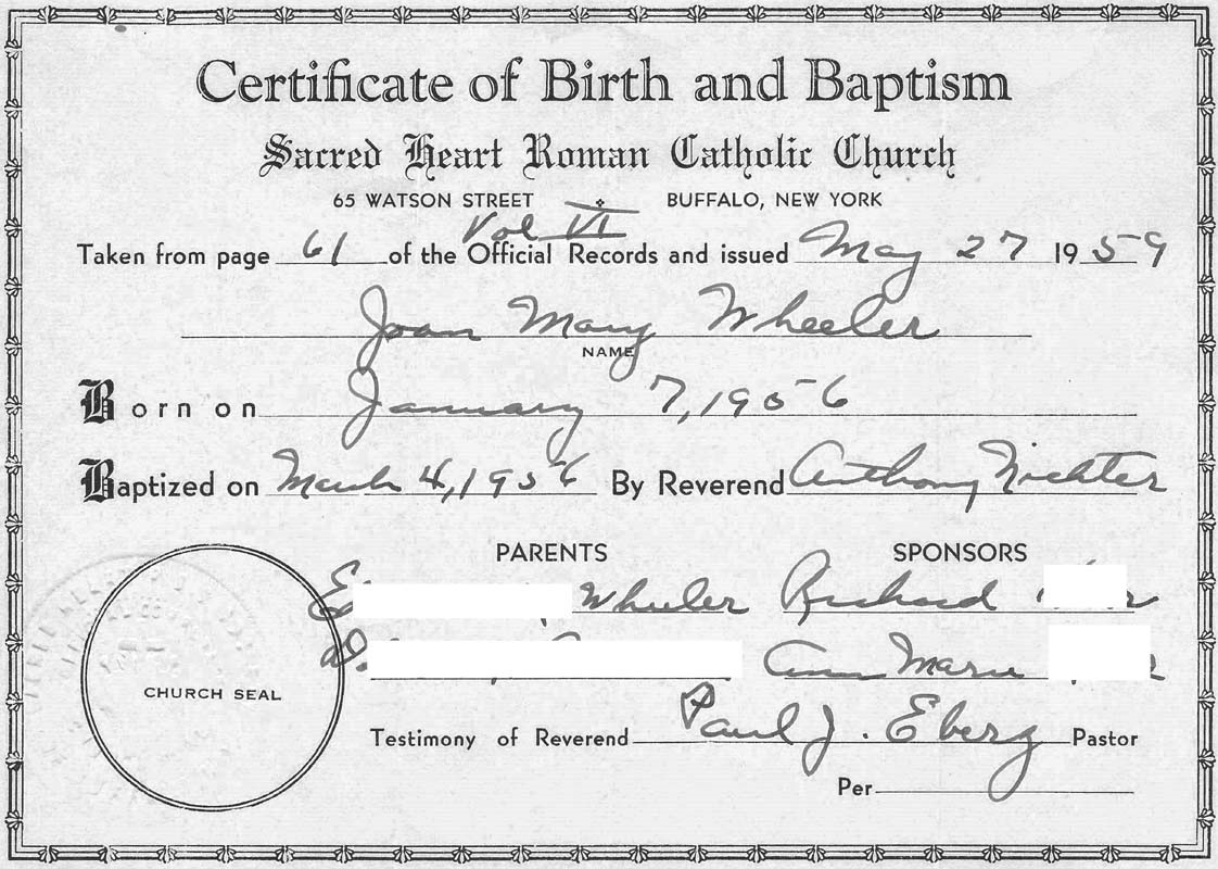 buffalo new york birth certificates