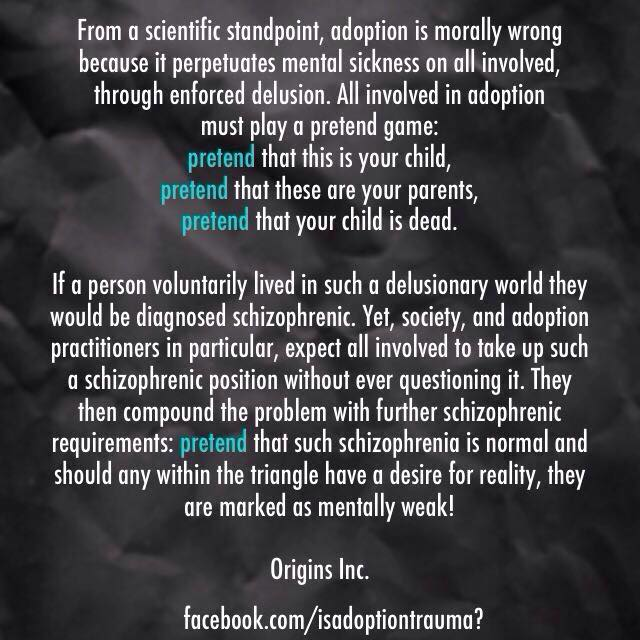 adoption schizophrenia - by Origins Inc